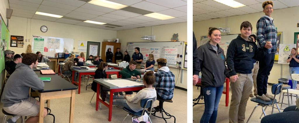 FFA Students in workshops at CCTC
